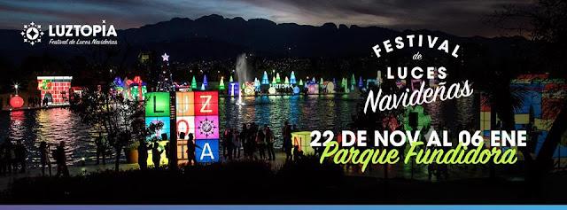 festival de luces navideñas luztopía 2018