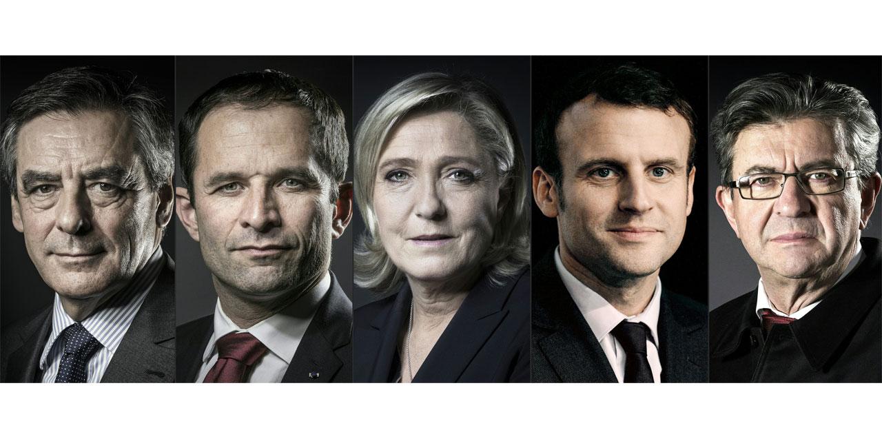 le pen, macron, mélenchon, fillon, tf1, présidentielle, socialiste, en marche, lr, insoumis, fn
