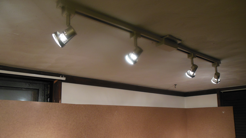 Looking Track Lighting Fixture I Chose This Because Have Very Low Ceilings In The Room And Was Worried About Clearance