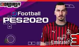 تحميل بيس PES 2020 للاندرويد PPSSPP من ميديا فاير باخر انتقالات الجديد و كاميرا PS4
