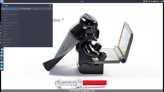 Ejecutamos SuperTuxKart desde el menu de Ubuntu