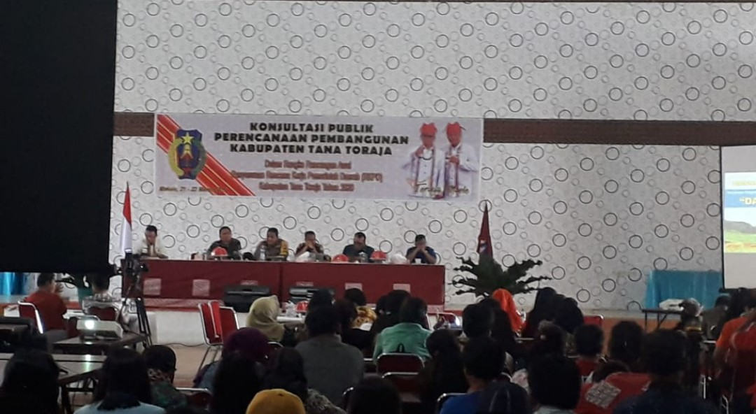 BNNK Tana Toraja Sosialisasi P4GN Dalam Konsultasi Publik Perencanaan Pembangunan Tana Toraja