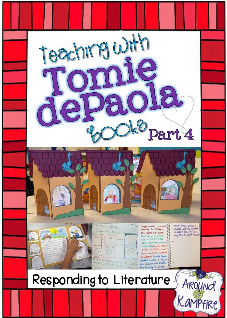 This teacher shares lots of creative ideas and activities for responding to literature during a Tomie dePaola author study | Around the Kampfire blog