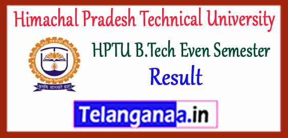 HPTU Himachal Pradesh Technical University B.Tech 2nd 4th 6th 8th Semester Result 2017