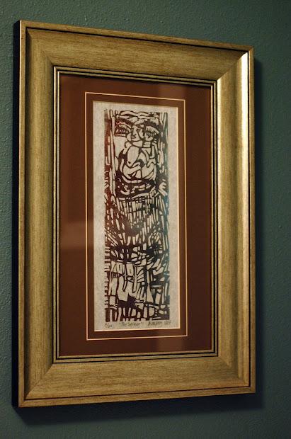 """Beth Crafty Repurposing Framed """"art"""""""