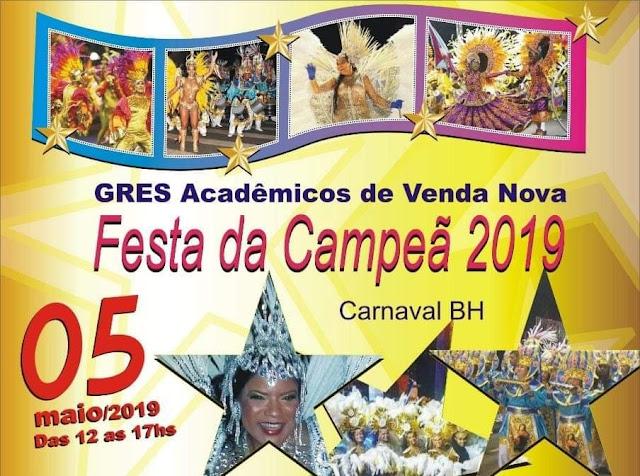 Festa da Hexa Campeã do carnaval de Belo Horizonte Acadêmicos de Venda  Nova