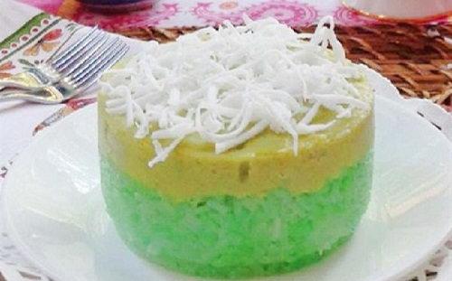 Xôi dừa đậu xanh lá dứa