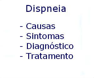 Dispneia causas sintomas diagnóstico tratamento prevenção riscos complicações
