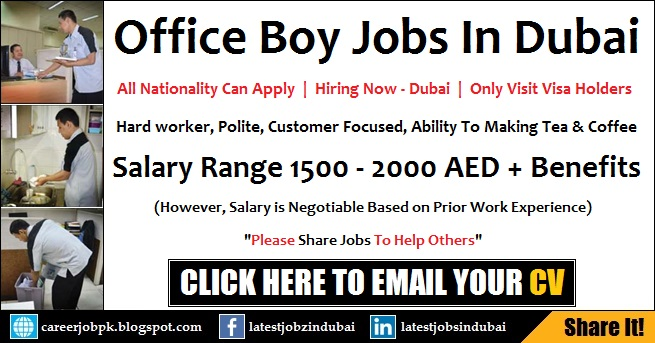 Dubai Office Boy Jobs Today With Good Salary