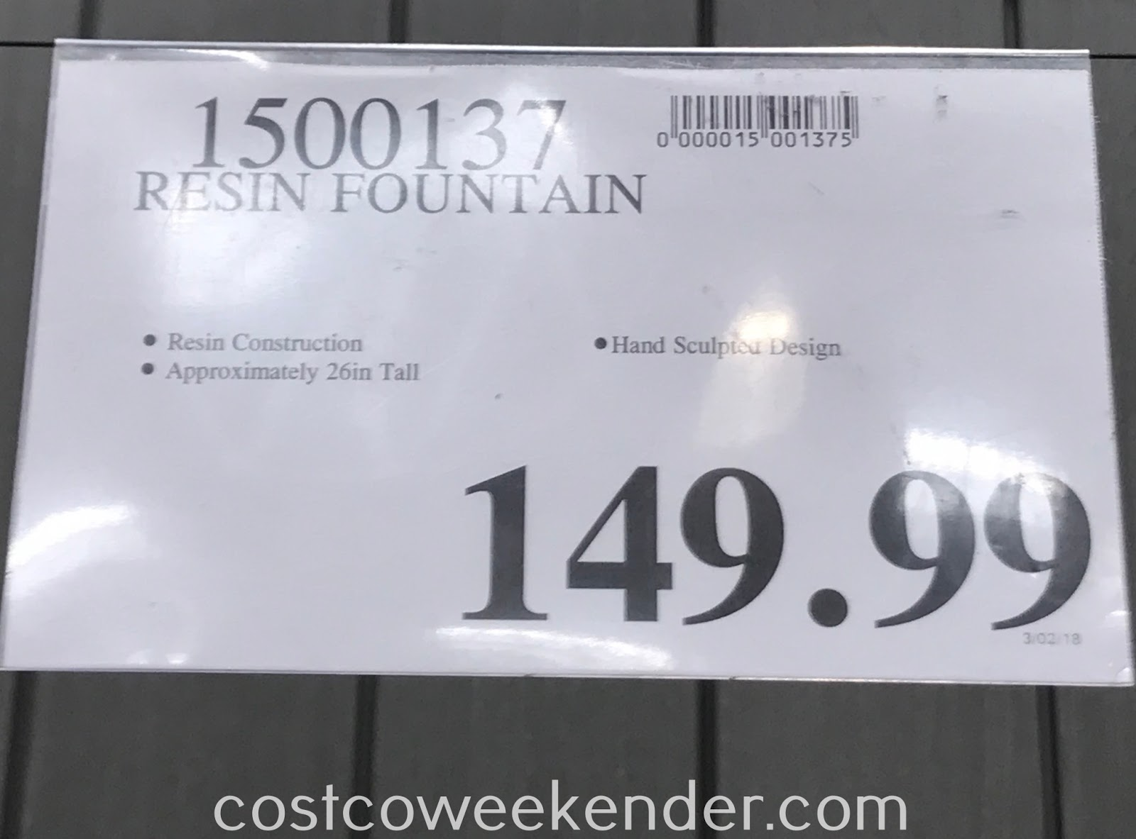 Deal for the Resin Tiered Fountain at Costco