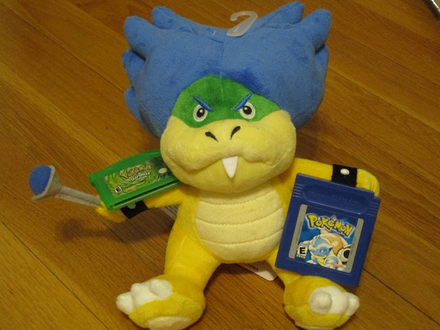 Ludwig Von Koopa plushie plush Pokémon Blue version Leaf Green LeafGreen cartridge Game Boy