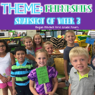 Back to School ~ Friendships - First Grade Roars!