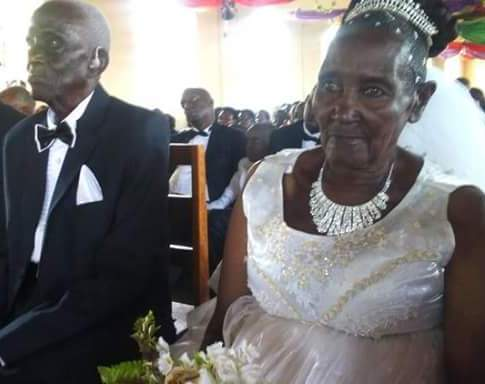 Photos: Never too late for love! Man, 90, weds 83-year-old woman in Uganda