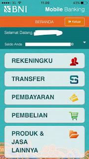 fitur fitur yang tersedia di bni mobile banking for iphone ios