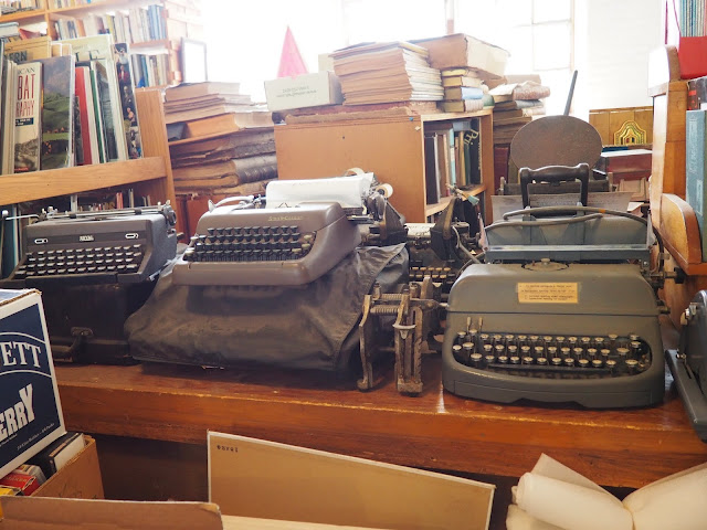 typewriters at the shire book shop