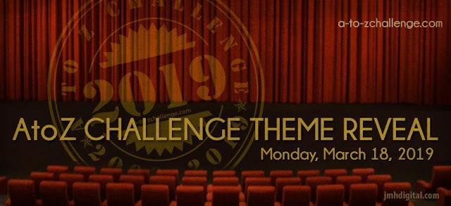 Theme Reveal #AtoZchallenge Tenth Anniversary 2019
