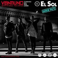 Sold out concierto de Veintiuno en Sala el Sol