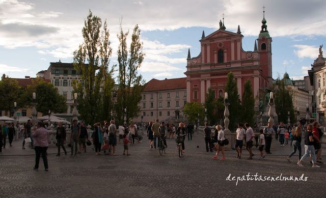 Plaza Preseren en Liubliana