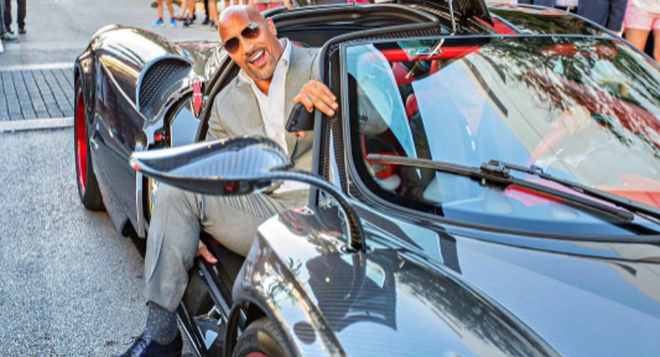 Dwayne Johnson Rolls Up To Ballers Premiere In Bespoke Pagani Huarya