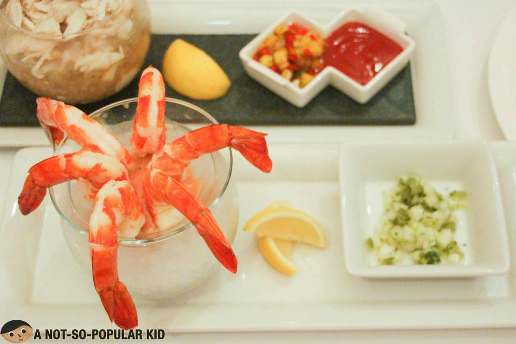 Seafood delights in Cru Steakhouse - Crab and Shrimps!
