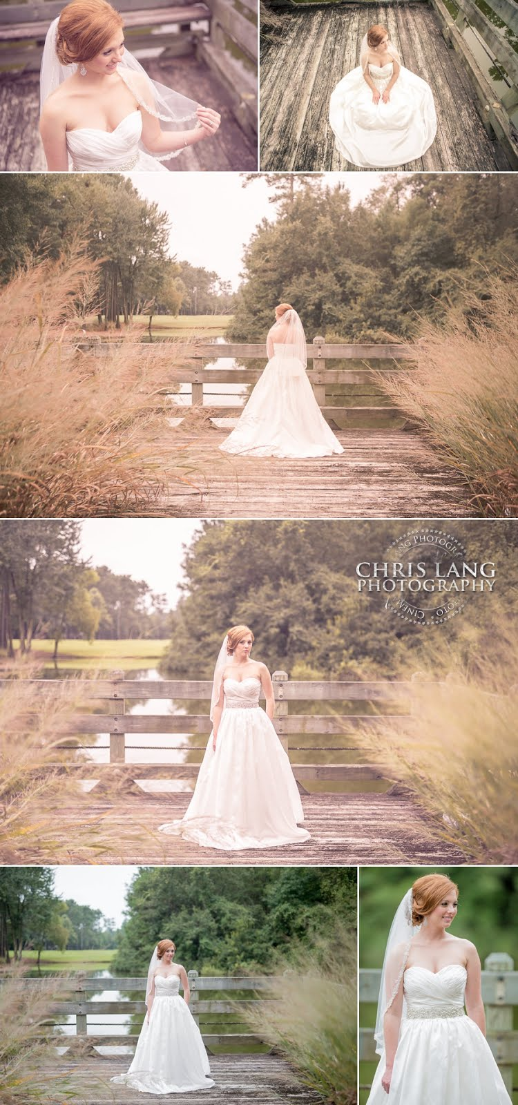 Bridal Session at River Landing Country Club - Wallace NC - Chris Lang Photography