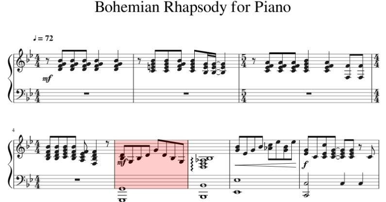 Piano Sheet Music Freddie Mercury Bohemian Rhapsody Piano Sheet Music Pdf