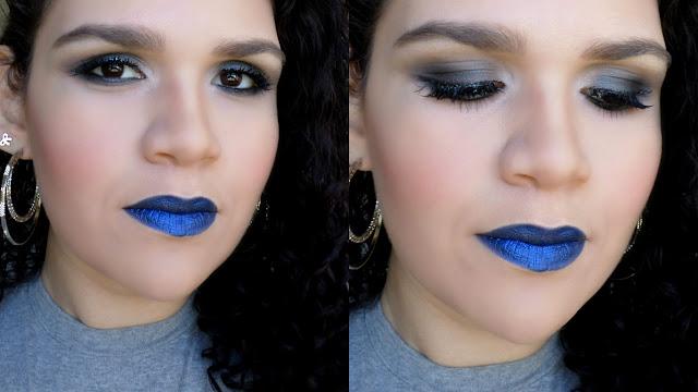 batom azul metálico felicitta looks