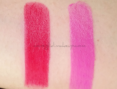 swatch Nouveau Pink e Hot Red wet n wild