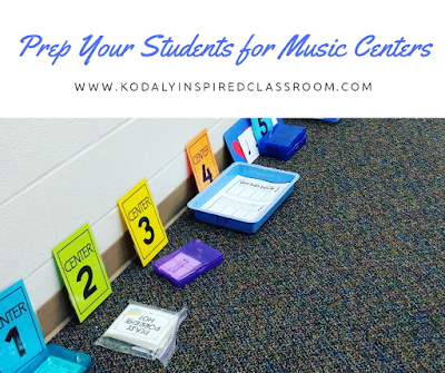 Prepare Your Students for Music Centers