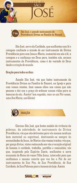 Novena de São José dia 1- São José e a Divina Providência