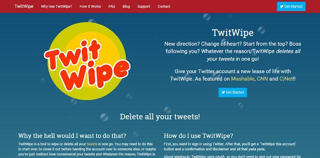 как выполнить удаление всех твитов