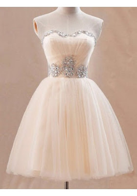 A-line Sweetheart Short/Mini Tulle Short Cocktail Dresses For Wedding #SP8505