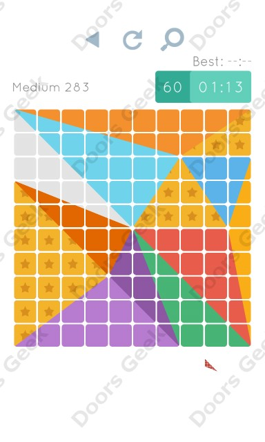 Cheats, Walkthrough for Blocks and Shapes Medium Level 283