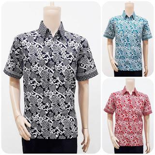 Model Baju Batik Pria Motif Bunga
