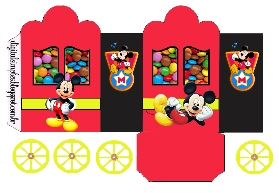 Mickey in Red: Princess Carriage Shaped Free Printable Boxes.