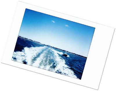 Polaroid du ferry de Patchogue Long Island New York - Le Chameau Bleu