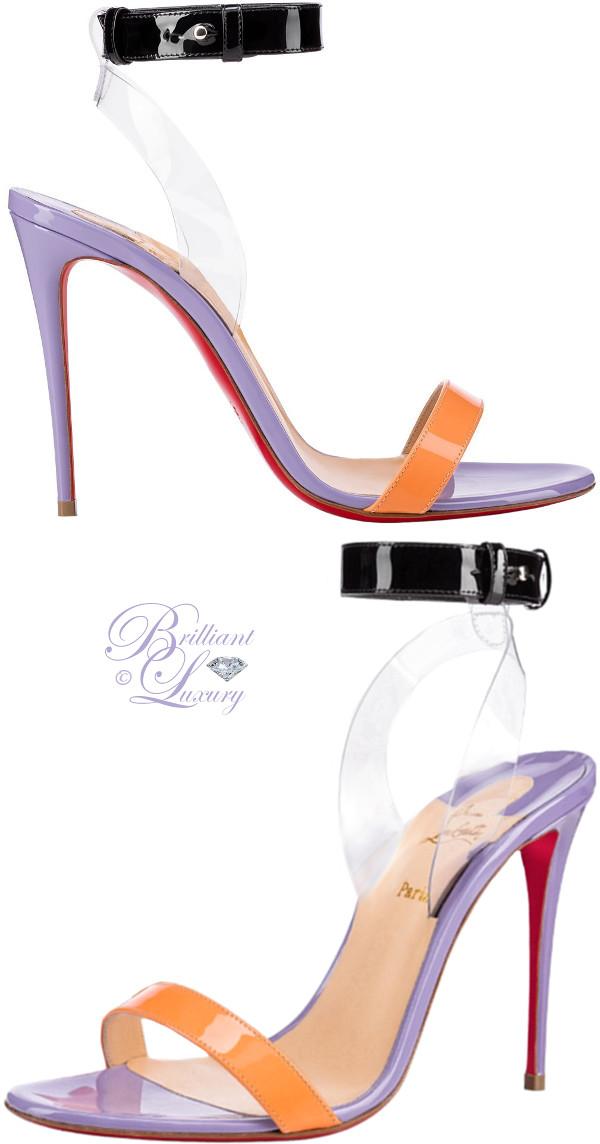 Brilliant Luxury ♦ Christian Louboutin Jonatina color block sandals in hortensia