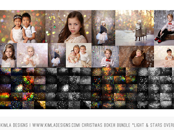 New Christmas Bokeh Photo Overlays & how to use them
