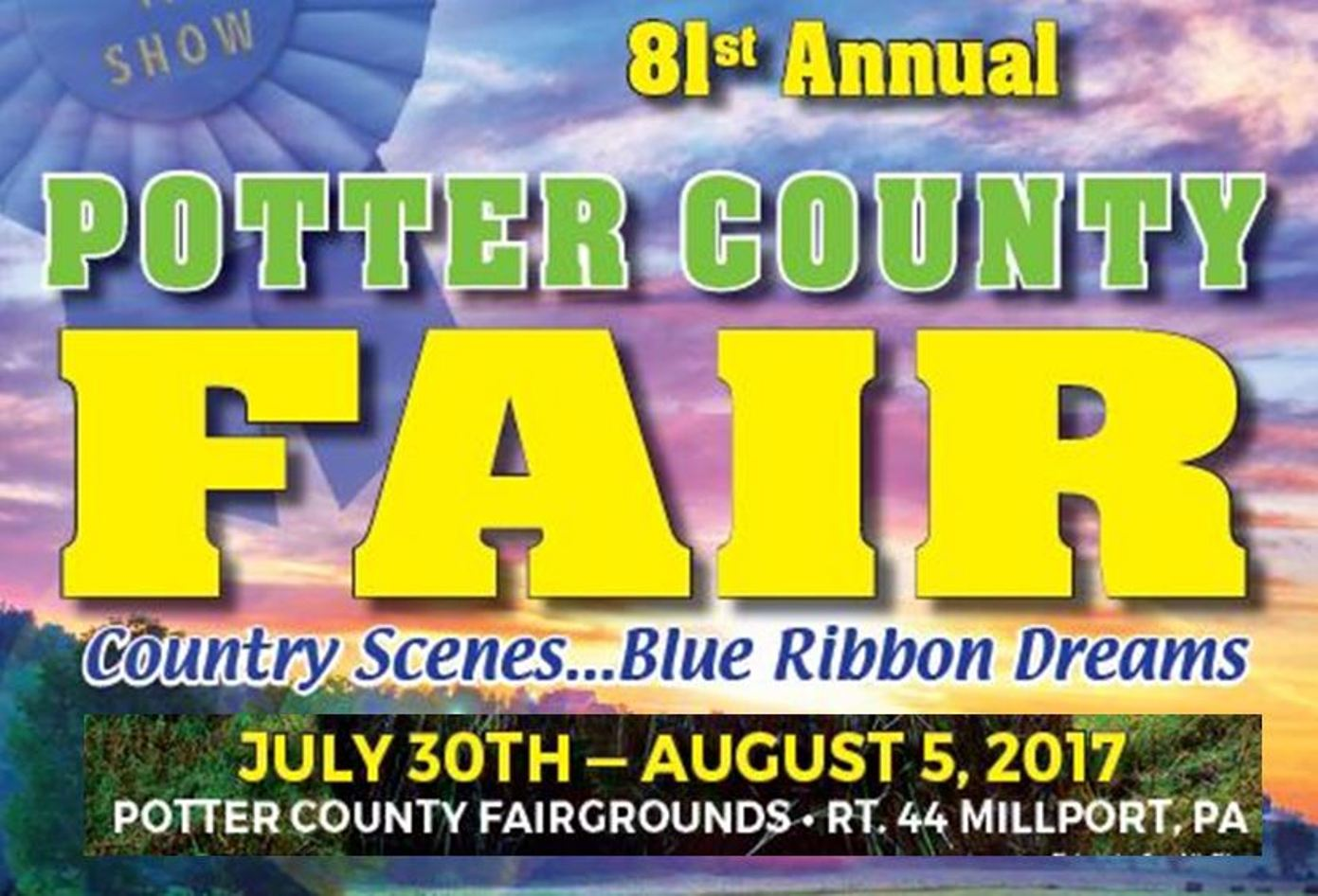 Potter County Fair Starts Sunday