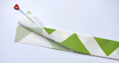 Fold the Binding Strip in Half and Press with an Iron