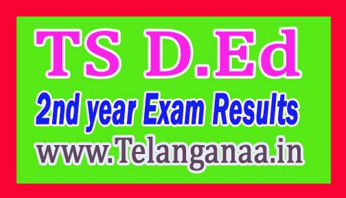 Telangana TS D.Ed 2nd year Exam Results 2016