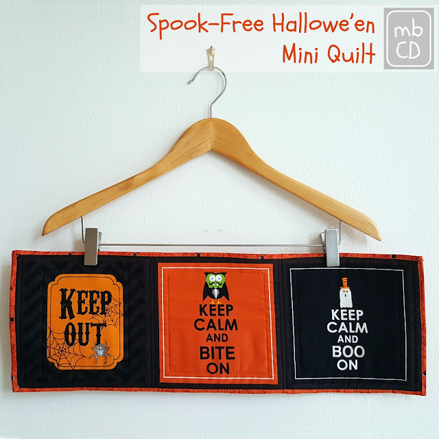 Spook-Free Halloween Mini Quilt by www.madebyChrissieD.com