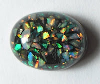 low-quality synthetic opal
