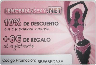 tarjeta lenceria sexy descuento