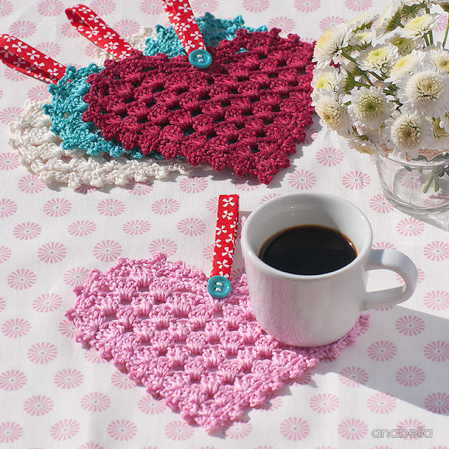 Crochet Granny Hearts, free pattern, Anabelia Craft Design