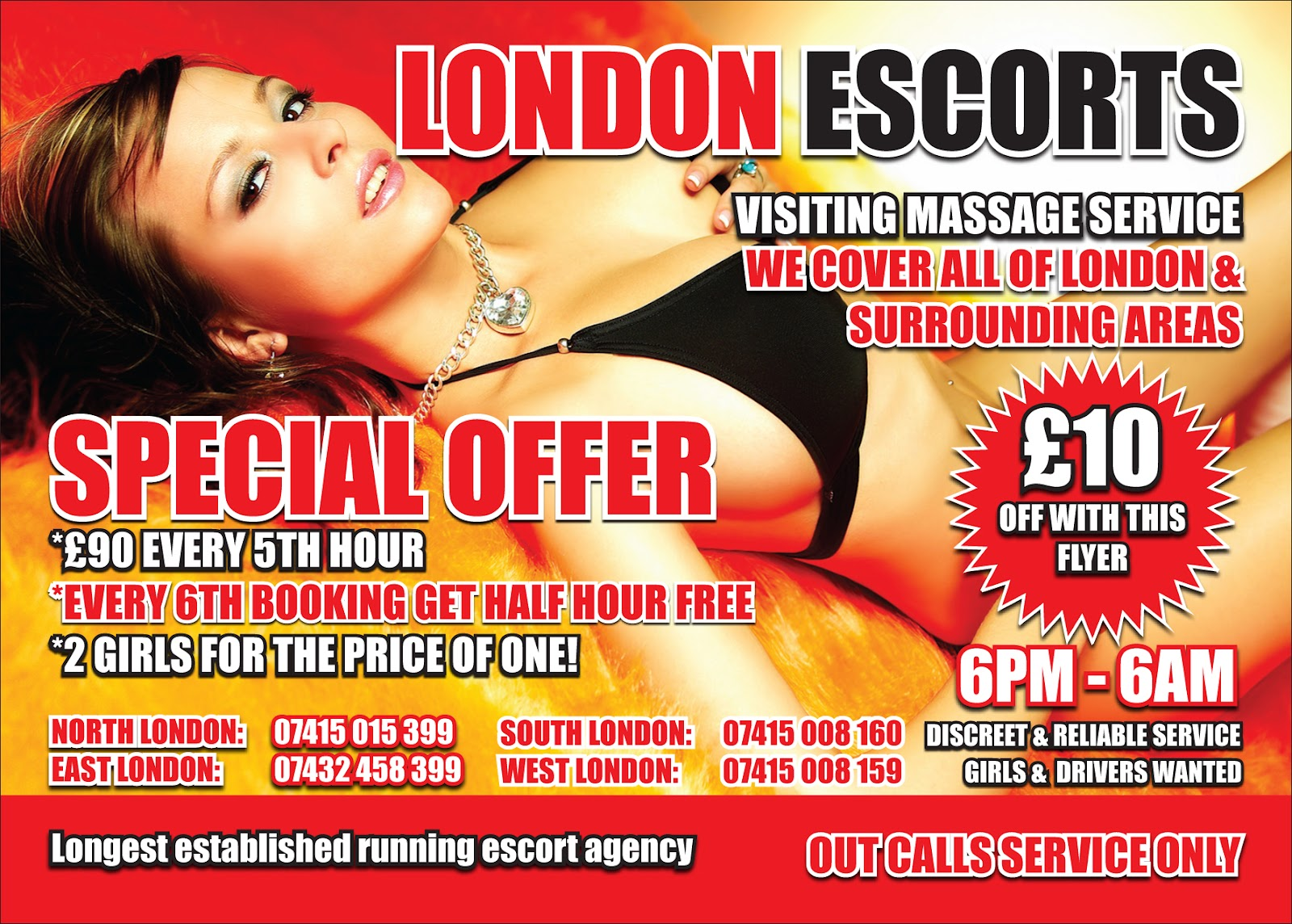 An escorts flyer...Lucky me. Also had to do business cards.