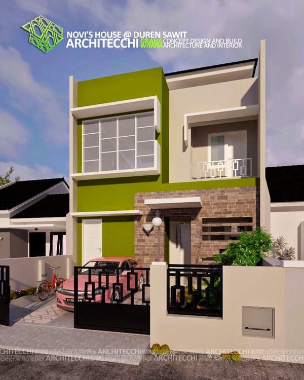 Desain Rumah Minimalis 2 Lantai Lebar 7 Meter