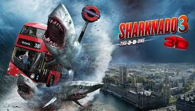 Sharknado 3 (2015) Hindi Dual Audio 300MB Download BDRip 480p