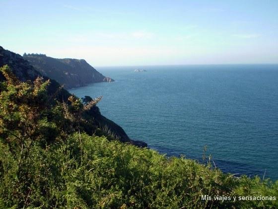 Punta de Plouha, acantilados, Bretaña Francesa