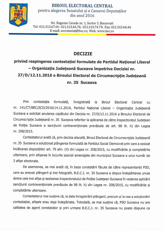 PNL Suceava a încălcat legea electorală. Biroul Electoral Central a cerut IPJ Suceava sancționarea contravențională a liberalilor